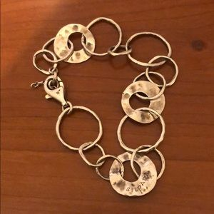 Hammered silpada Sterling silver bracelet